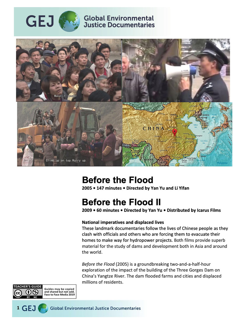 Before the Flood Teacher Guide